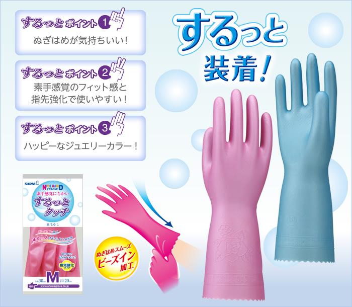 日本Showa するっと Surutto 順滑清潔手套 (輕巧型)